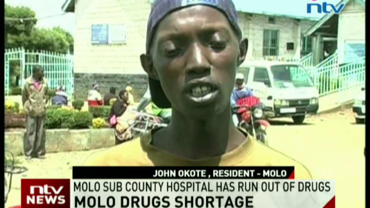 Molo sub county hospital has run out of drugs