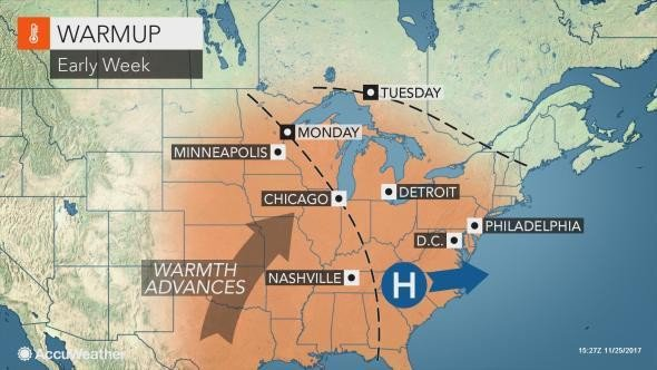 Sunny skies, gusty winds to close out Thanksgiving weekend