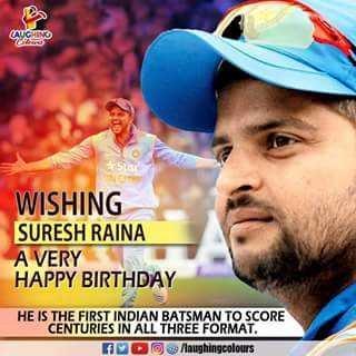 Happy birthday ... Suresh Raina.. Stay happy ... N many many happy returns of the day ...