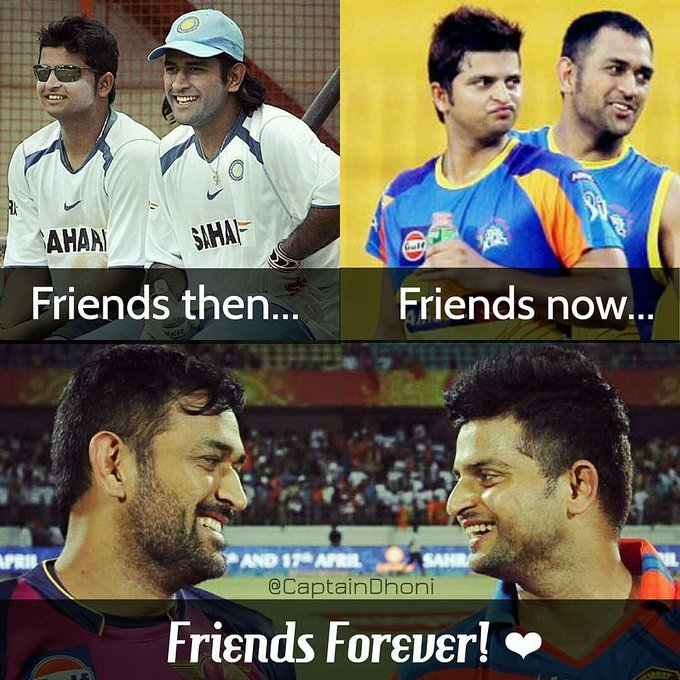 MS DHONI and SURESH RAINA: Defining Friendship Goals From The Last 12 Years! .  HAPPY BIRTHDAY, !