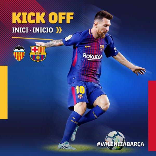 RT @FCBarcelona: ???? The game is under way in Mestalla! #ValenciaBarça ???????? #ForçaBarça https://t.co/iHN2zhDRpa