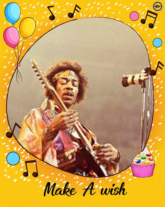 Happy birthday to the greatest musician of all time, Jimi Hendrix!