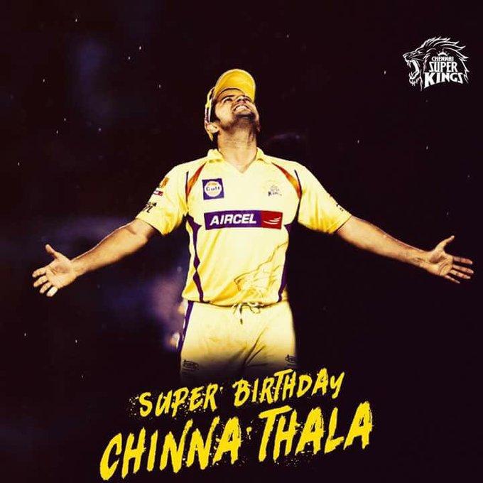 Wish you happy birthday thalaivaaaa                    Indian cricket hero       SURESH RAINA