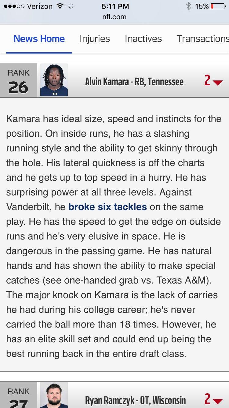 Here's my Kamara report. He's been incredible. https://t.co/UcqabEDaC8