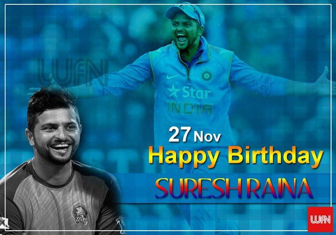 Wish you a very happy birthday Suresh Raina