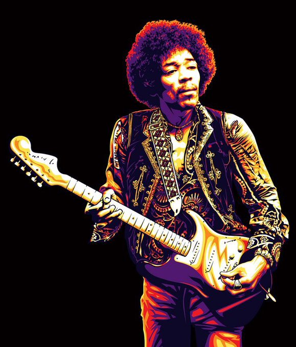 Happy birthday, Jimi Hendrix! The greatest guitarist of all time!