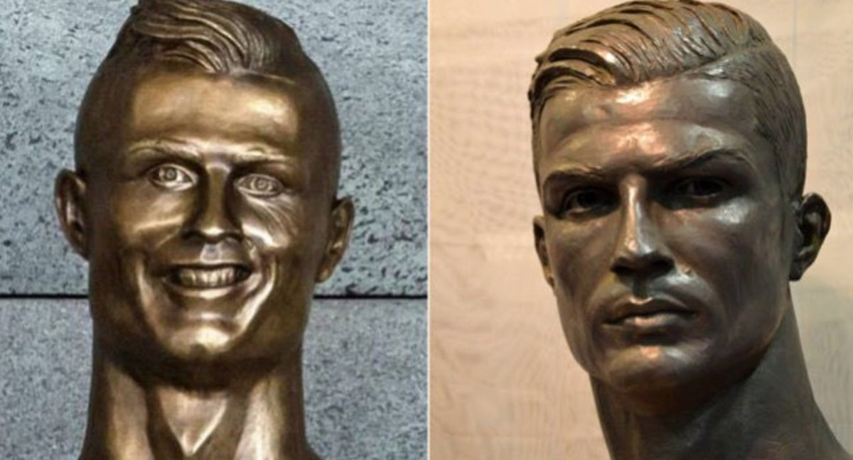 Sculptor Makes Cristiano Ronaldo Bust That Actually Looks Like Him