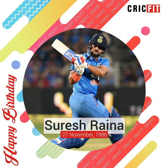Cricfit Wishes Suresh Raina a Very Happy Birthday!