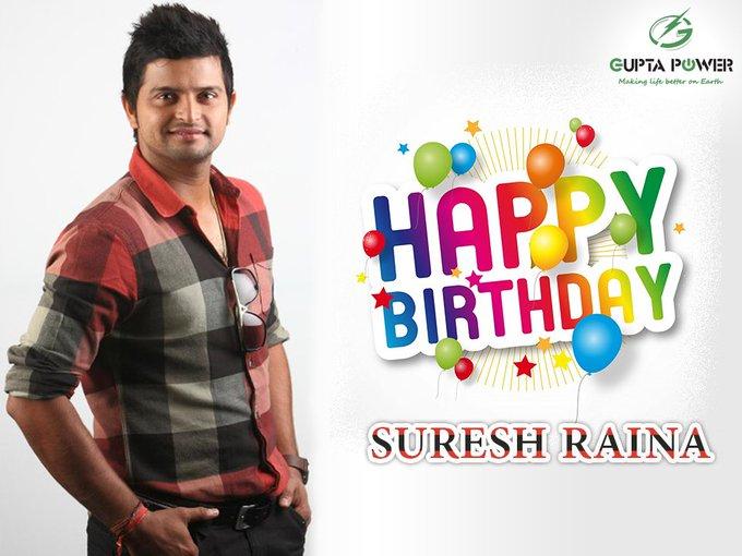 Happy birthday suresh Raina...