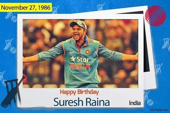 Happy birthday suresh raina ji