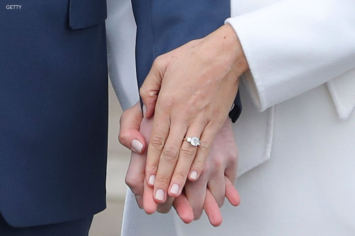 Meghan markle\'s engagement ring was designed by prince harry and is ...