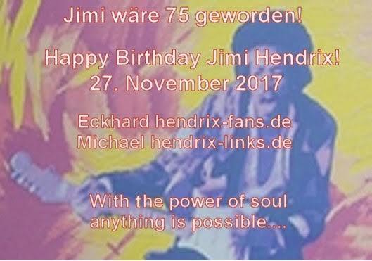 Heute wäre der größte Gitarrist Jimi Hendrix 75 Jahre alt geworden Happy Birthday Jimi du bist unvergessen