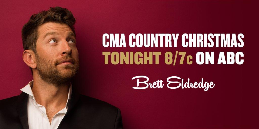 RT @bretteldredge: Don't miss Brett on #CMAChristmas TONIGHT at 8/7c on @ABCNetwork! -Team Brett https://t.co/0zUROF0Vi8