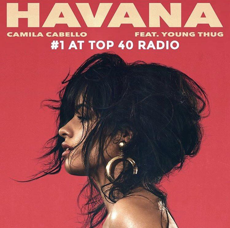 Happy Monday!!! #HAVANA is the #1 record at Top 40 radio ������ Congrats @camila_cabello ���� https://t.co/v09Za7uMdI