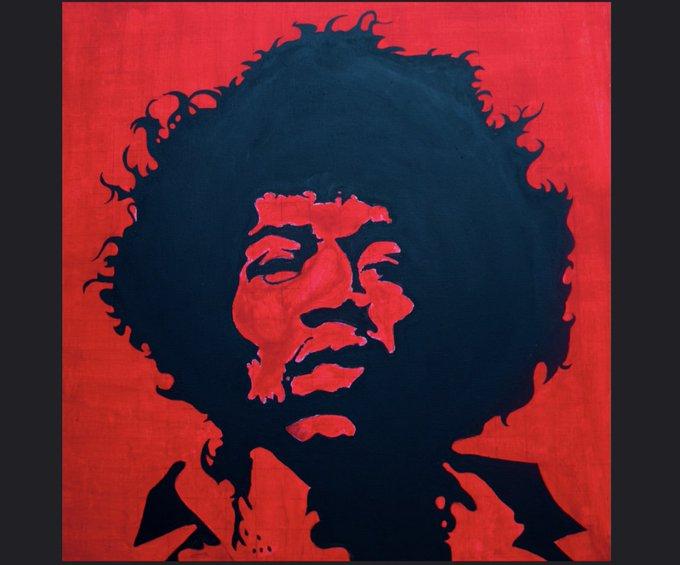 Happy 75th birthday to the king, Jimi Hendrix.   Photo: Arup Malakar