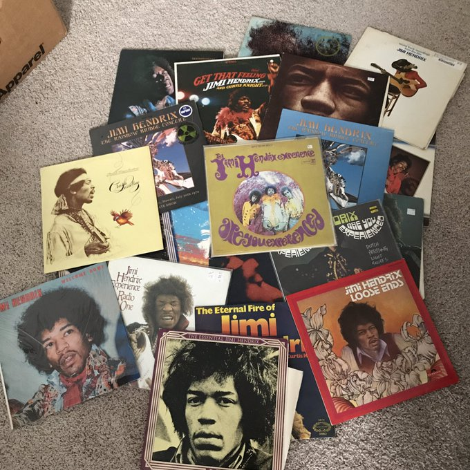 Happy 75th Birthday Jimi Hendrix! Here\s a portion of my Hendrix records I\ve been collecting since middle school