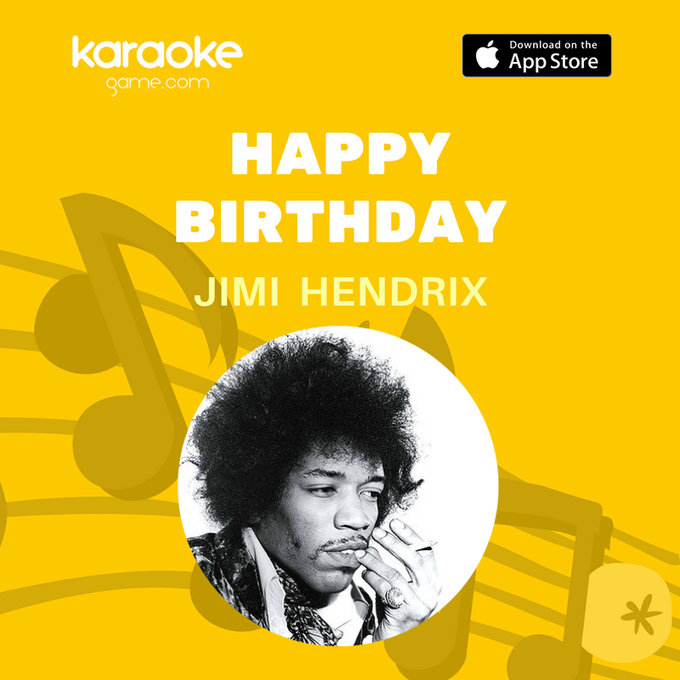 Let\s remember one of the greatest guitarist of all time! Happy Birthday Jimi Hendrix
