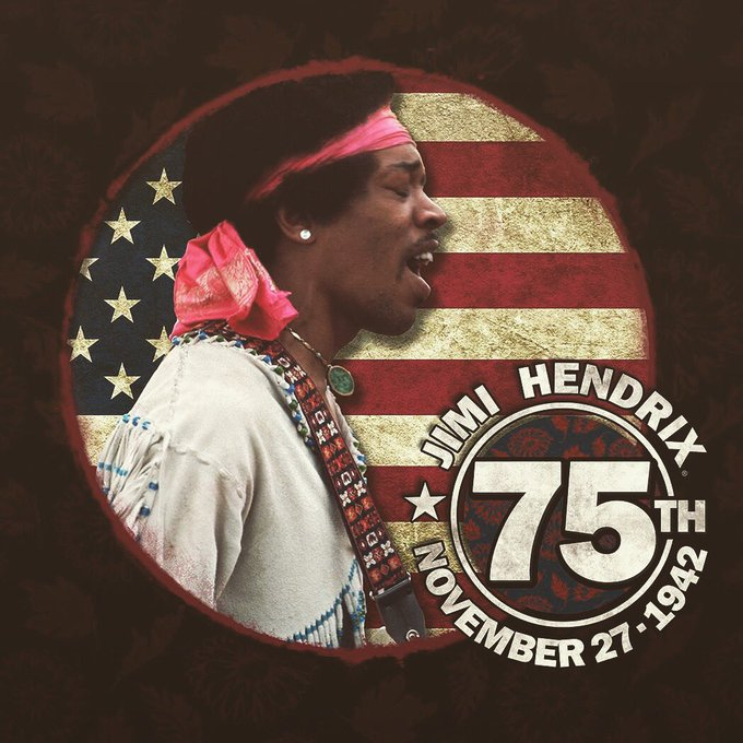 Happy Birthday to the great Jimi Hendrix. There has never been another like you.