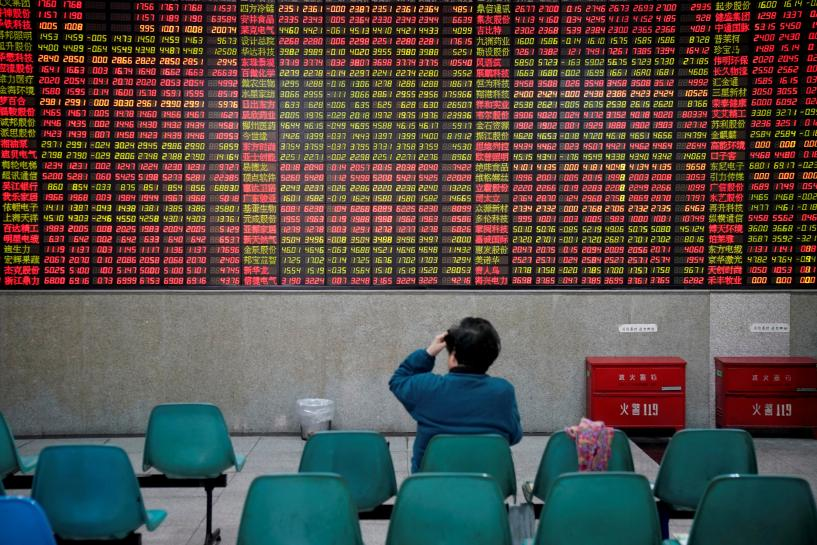 Asian shares ease from decade peak, China markets in focus