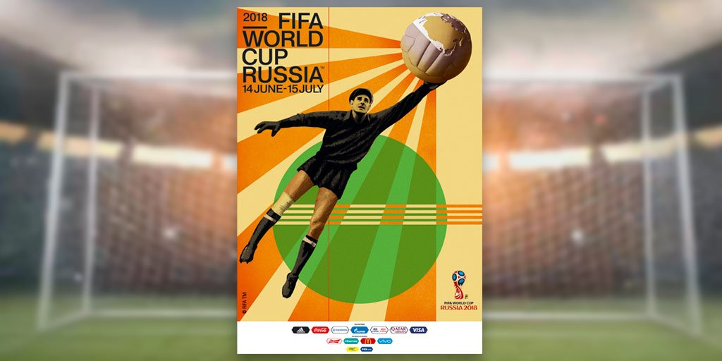 RT @FIFAWorldCup: Introducing the official #WorldCup poster for ????????Russia 2018! https://t.co/91OTD6SYOq