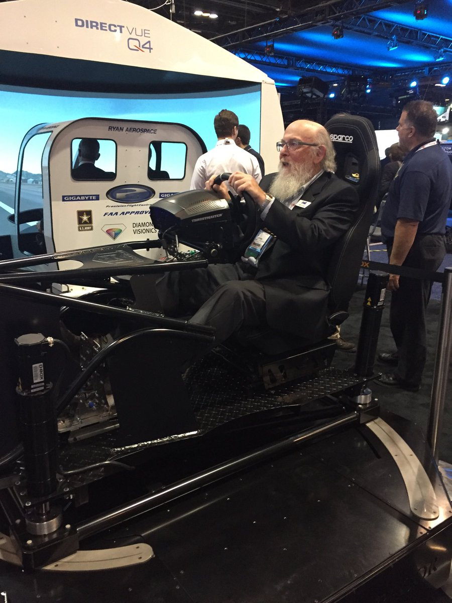 test Twitter Media - Was nice to have the experienced opinion of Jeff Loube on our new 4DoF simulator yesterday @halldalegroup #IITSEC2017 https://t.co/3eXXEdfqmP