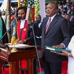 Turkana Governor attends President Uhuru Kenyatta's swearing in at Kasarani