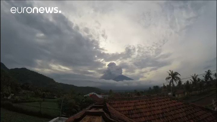 Watch: Timelapse video of Bali's erupting volcano