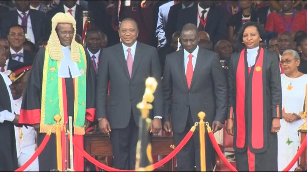 EYE ON AFRICA - Kenyatta sworn in as Kenyan president amid deadly clashes