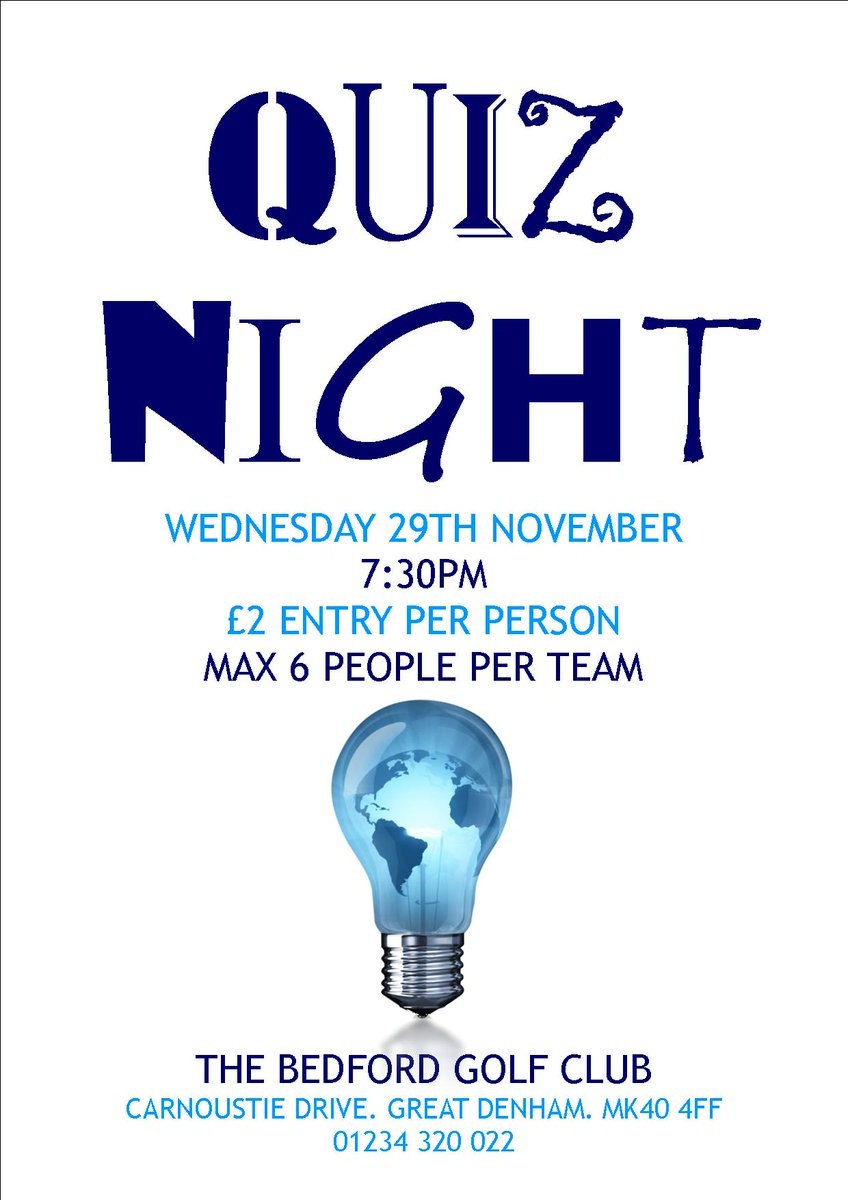 test Twitter Media - Do you know how many time zones there are in the world? Can you name the musical that features 'Some Enchanted Evening'? Do you know which of Spielberg's films grossed the most? Our quiz night this evening is your chance to prove you and your team are the biggest brains in town! https://t.co/s0iTZG89fv