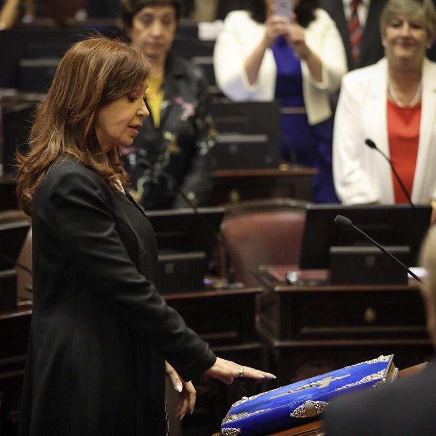 Jurando como Senadora Nacional. https://t.co/3rvXVhirc3