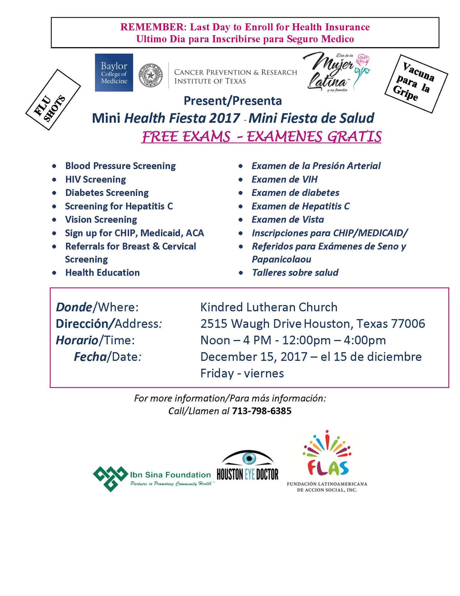 ��#Free. #Health. #Fair. #For. #HOUSTON.��#flushot #vision #screenings #bilingual #montrose #share https://t.co/4fcs9qdsRP