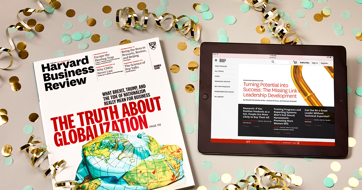 A one-year subscription delivering unrivaled insight - get unlimited access to HBR today. https://t.co/6hhq7PUoph https://t.co/Km59jyP2Re