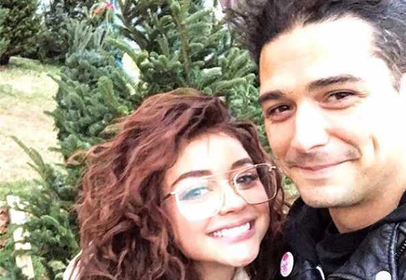 Sarah Hyland and Wells Adams are decking the halls for their first Christmas as a couple: