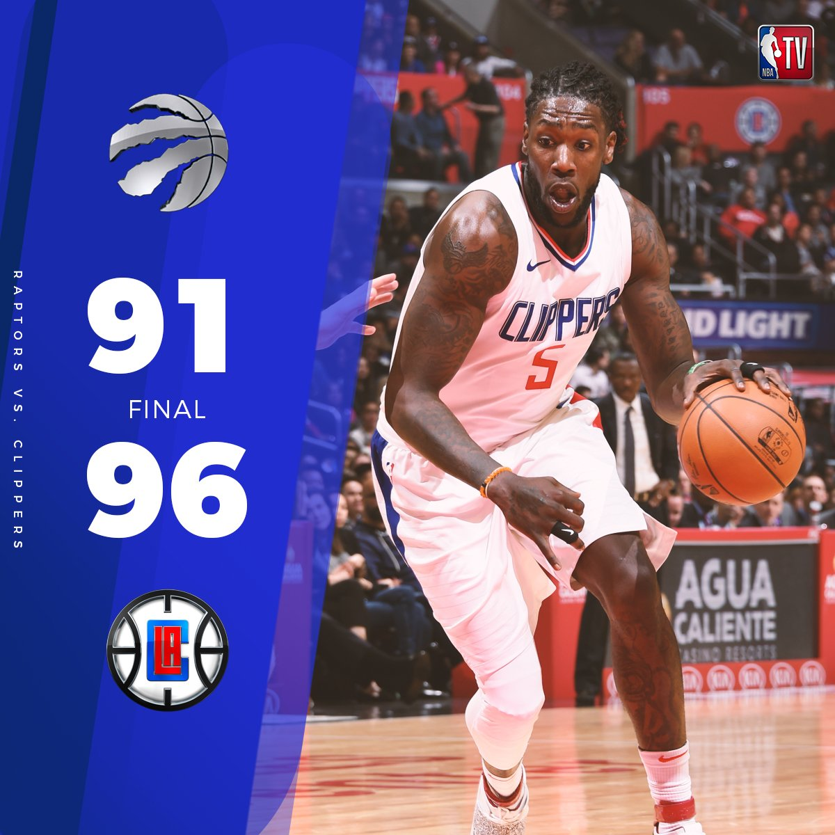 Montrezl Harrell (17p/4r) stepped up BIG for the @LAClippers as they held off the Raptors at home! https://t.co/XEOWnKJgO1
