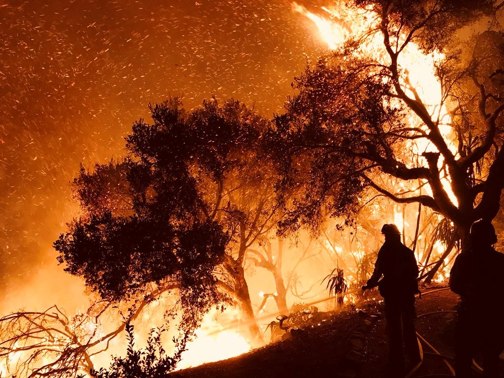California blaze is now among the five worst wildfires in the state's modern era