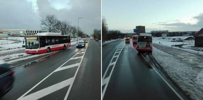Bus gestrand aan de Middel Broekweg Honselersdijk. Foto 's Dirk Vlietstra https://t.co/Mv3Py9PxAq