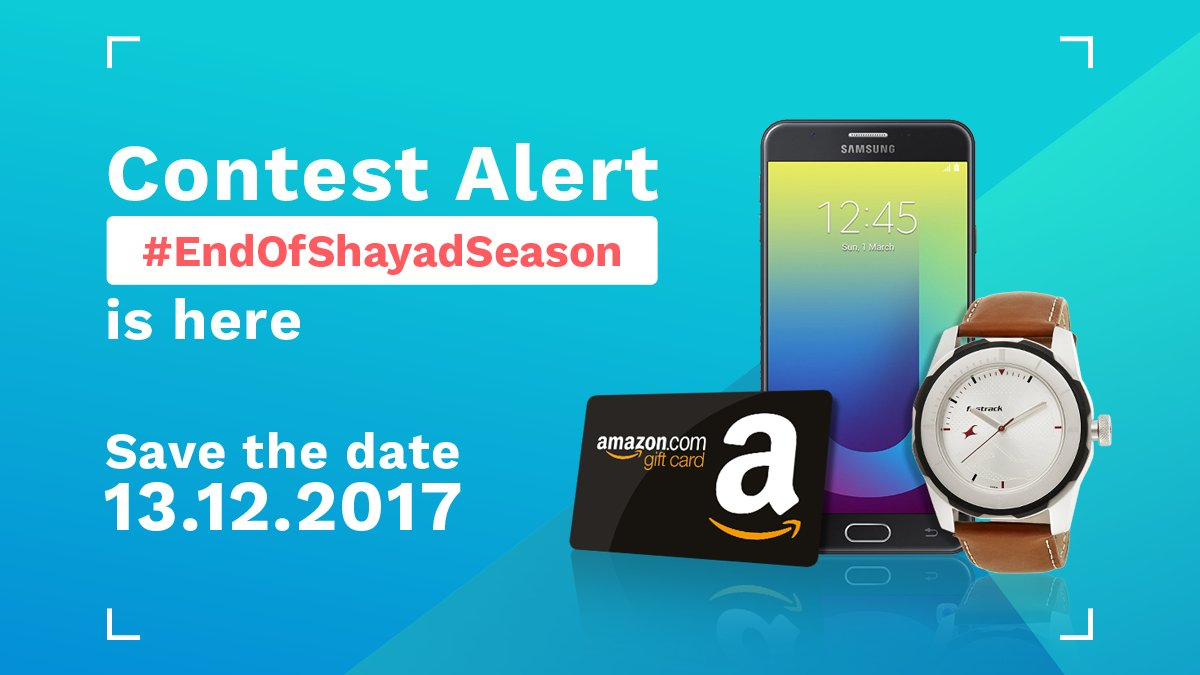 test Twitter Media - HURRAH..!! #EndOfShayadSeason #Contest coming up tomorrow! 🎁 #RT & #Like to spread the word!  #ContestAlert #ContestIndia https://t.co/1Di0nGOQdx