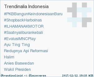 Trend Alert: #PKBBangunKeindonesiaanBaru. More trends at https://t.co/OMCuQPRWwL #trndnl https://t.co/nchbfryRMM
