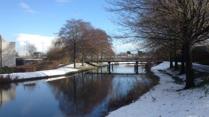 Na pakken sneeuw en donkere dagen eindelijk weer de zon. Wel glibberige voetpaden! https://t.co/JuBKv3s0oQ