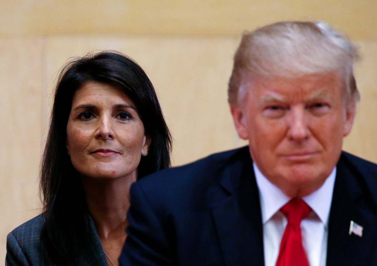 """Trump was mad at Nikki Haley for saying women """"should be heard"""""""