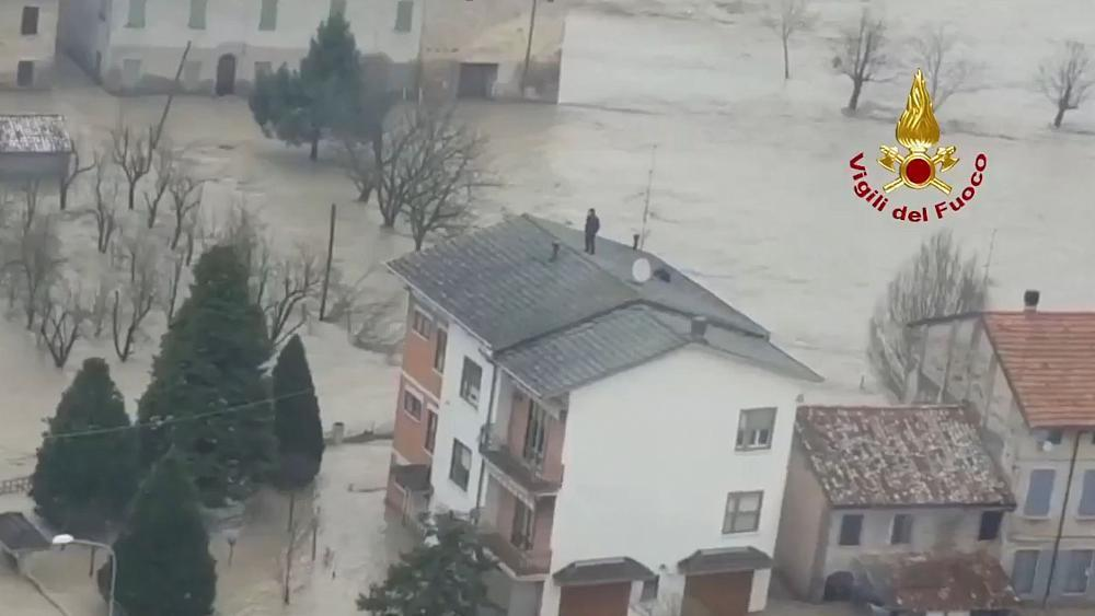Severe floods force evacuations in northern Italy