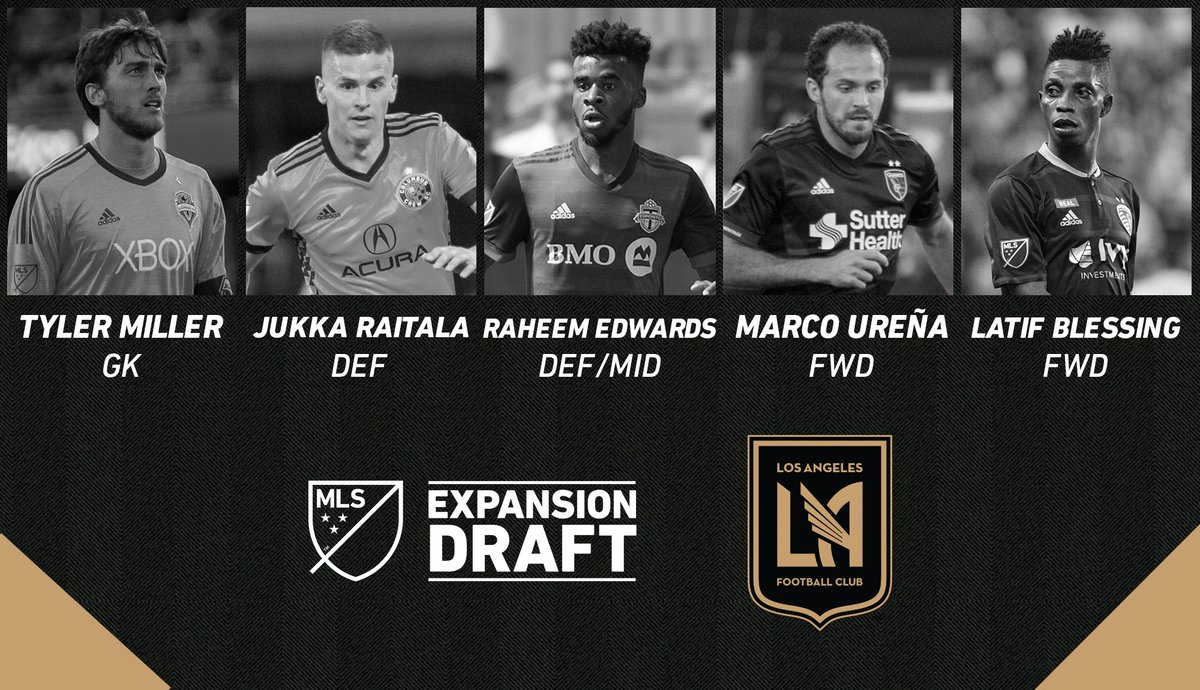 RT @MLS: The 2017 MLS Expansion Draft is complete!  Here are @LAFC's five selections. https://t.co/j1neJSWMjT