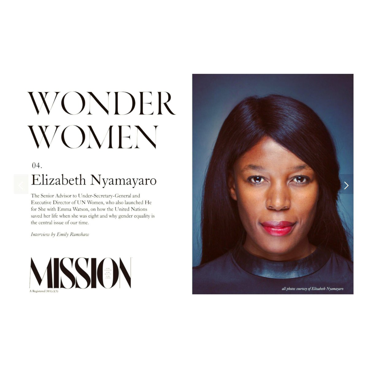 Not sure how, but txs @Mission_Mag for including me in the #WonderWomen series...#nopressure #genderequality #missionmagazine:  https://t.co/gVmGLvjyQG https://t.co/CM5lDJVC5A