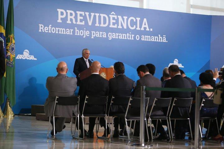 @BroadcastImagem: Temer reuniu ministros e empresários para defender reforma da Previdência. André Dusek/Estadão