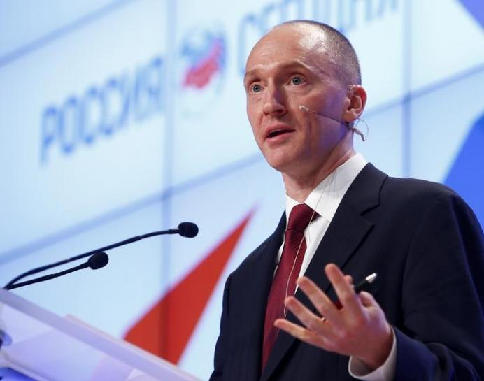 Ex-Trump aide Carter Page tells court to stop AT&T Time Warner deal