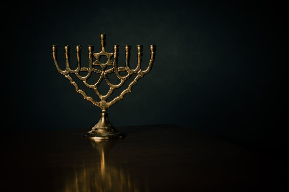 Celebrating the first night of Hanukkah