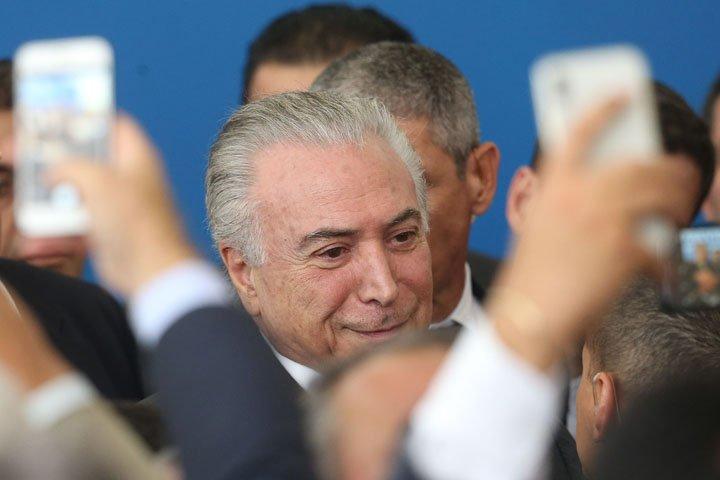@BroadcastImagem: Presidente Michel Temer (PMDB) em reunião com prefeitos no Planalto. André Dusek/Estadão