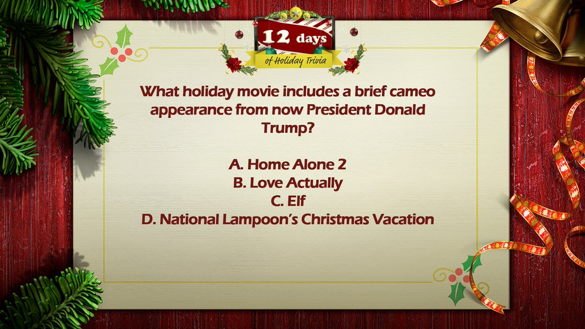 cameo appearance from a now president donald trump a home alone 2 b love actually c elf d national lampoons christmas vacation scoopnestcom - National Lampoons Christmas Vacation Trivia