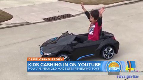 6-year-old made $11 million by reviewing toys on YouTube https://t.co/x3MCZRNrLt