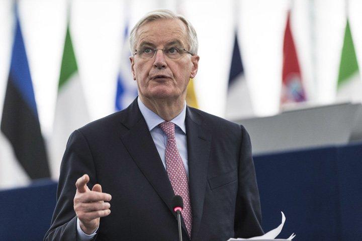 @BroadcastImagem: Barnier diz que 'não há volta' nos compromissos de Reino Unido para Brexit. Jean-Francois Badias/AP
